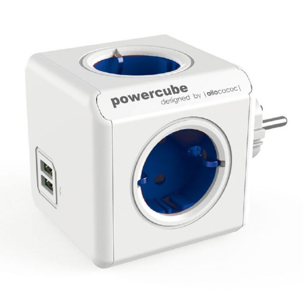 LADRON POWER CUBE + 2 USB AZUL