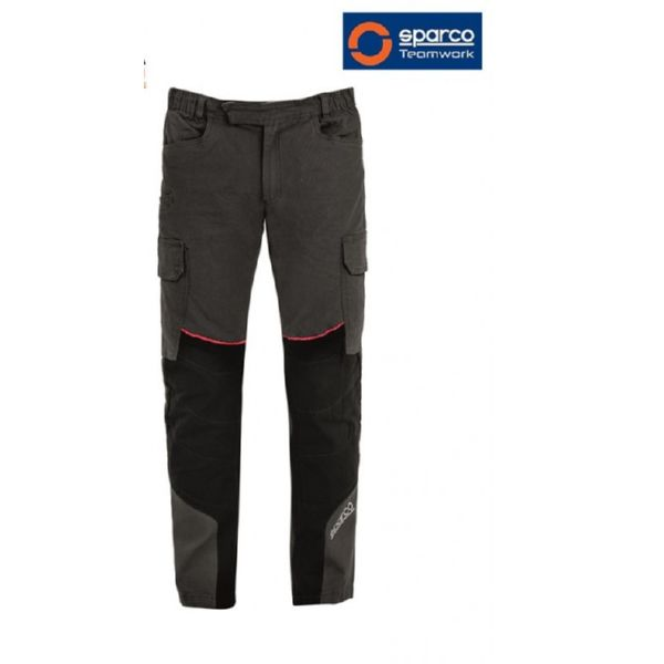 PANTALON SPARCO TROUSER DRAK GREY/RED ULTRA TECH T S